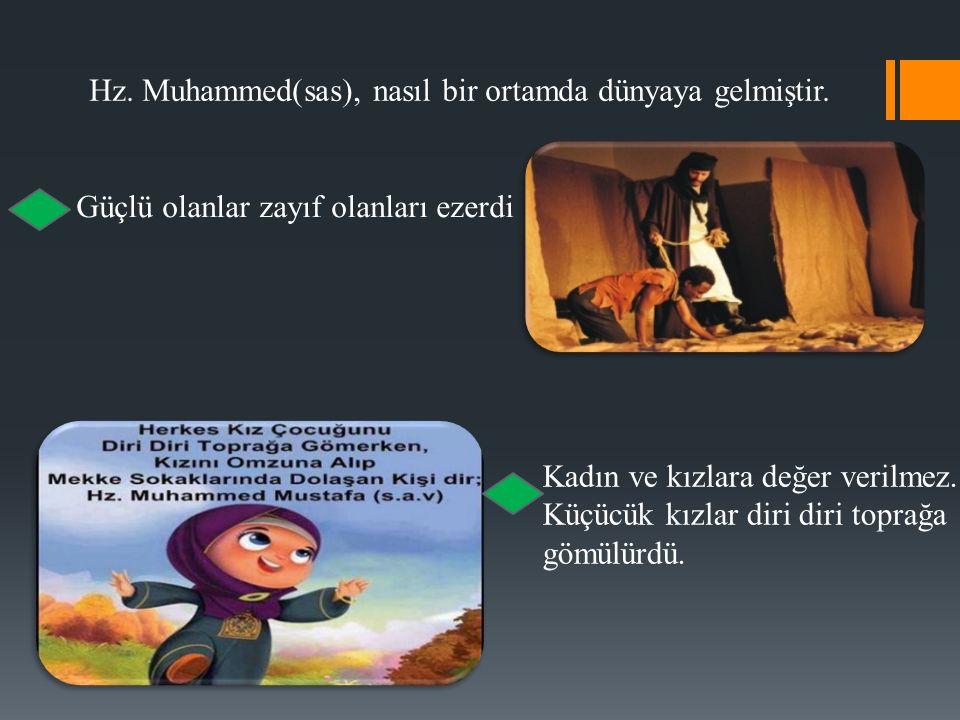 Hz. Muhammed(sas), nasıl bir ortamda dünyaya gelmiştir.