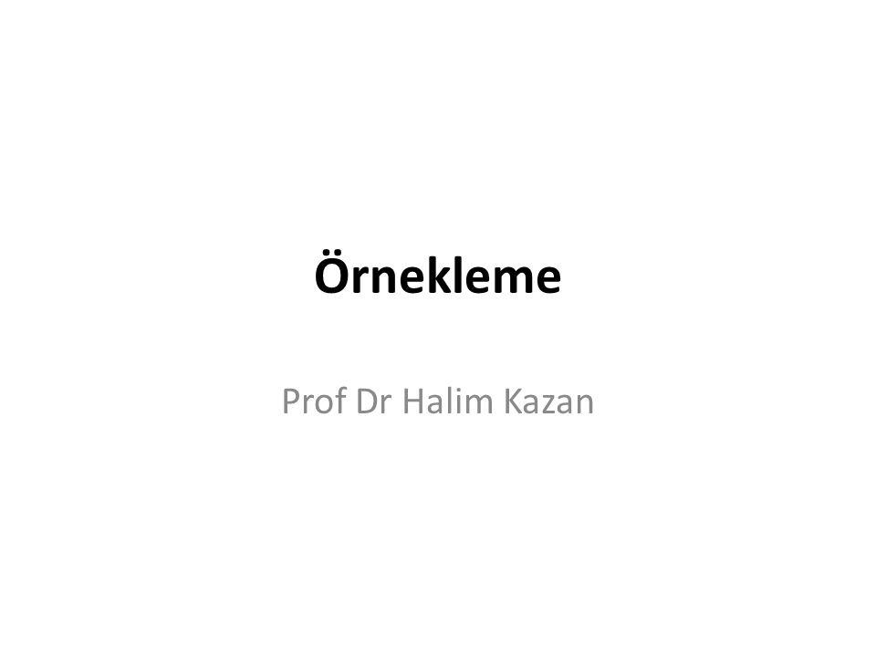 Örnekleme Prof Dr Halim Kazan