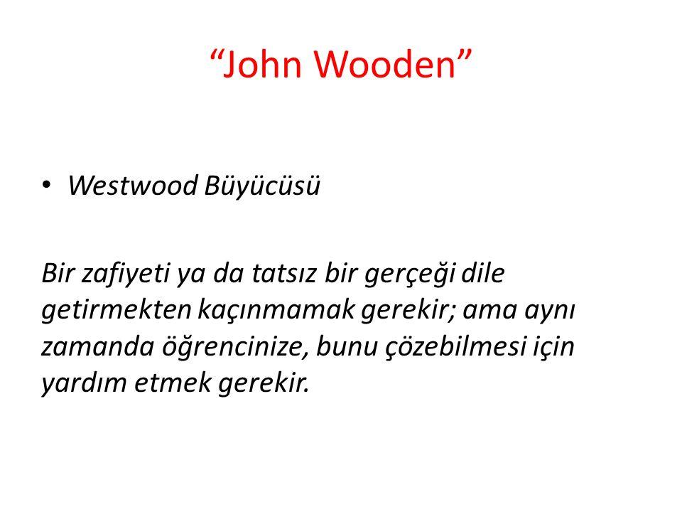 John Wooden Westwood Büyücüsü