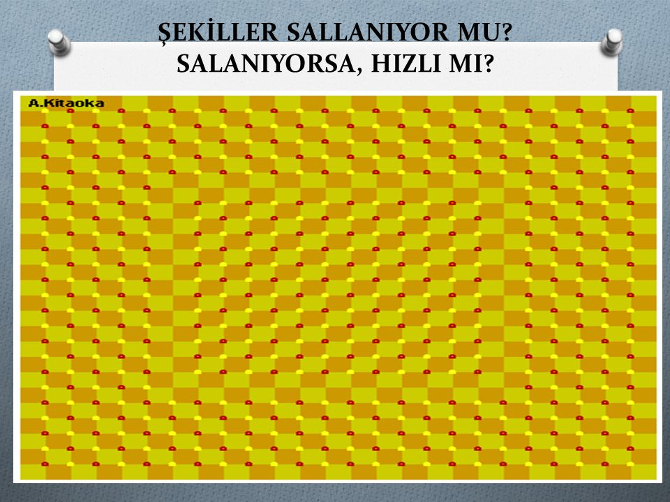 ŞEKİLLER SALLANIYOR MU SALANIYORSA, HIZLI MI