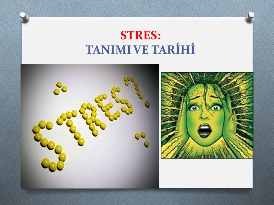 STRES: TANIMI VE TARİHİ