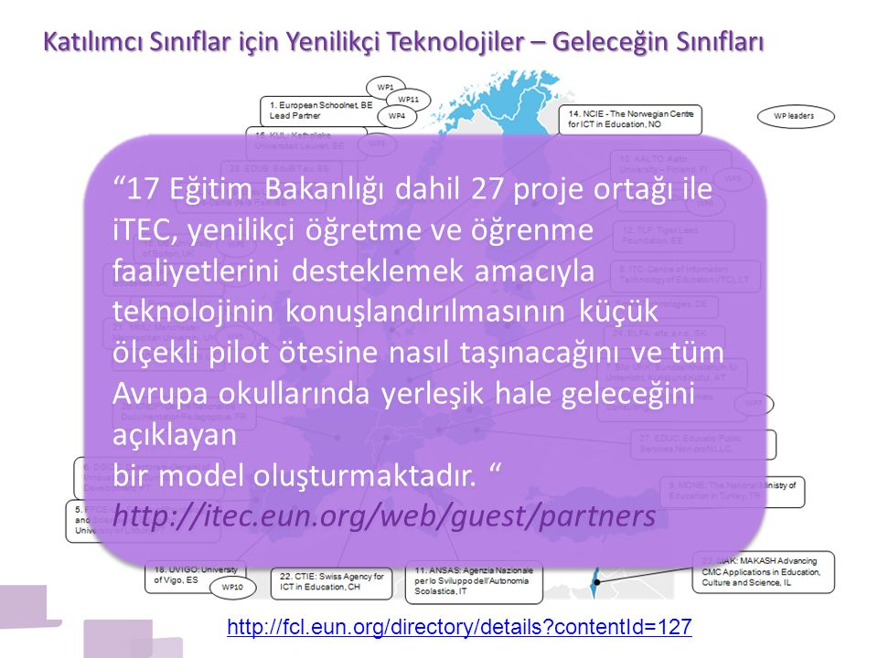 Katılımcı Sınıflar için Yenilikçi Teknolojiler – Geleceğin Sınıfları