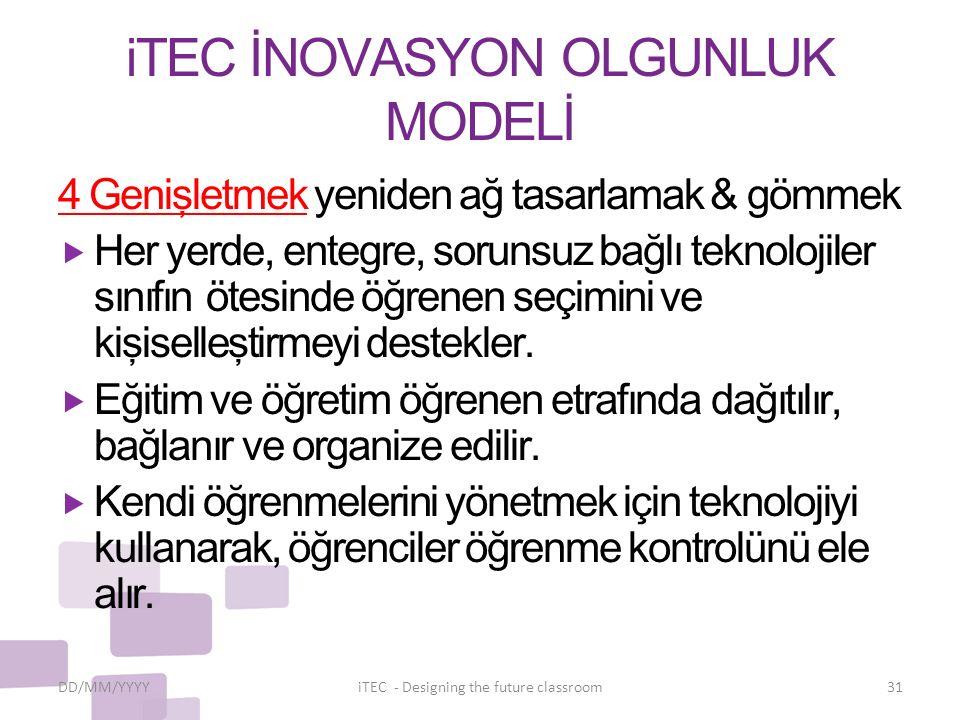 iTEC İNOVASYON OLGUNLUK MODELİ