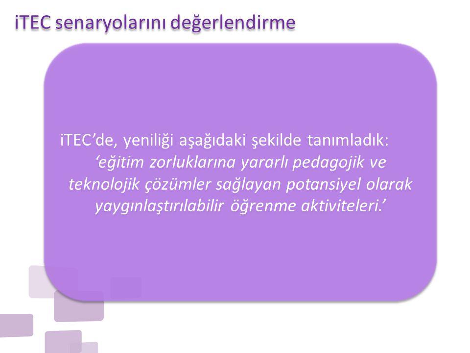 iTEC senaryolarını değerlendirme