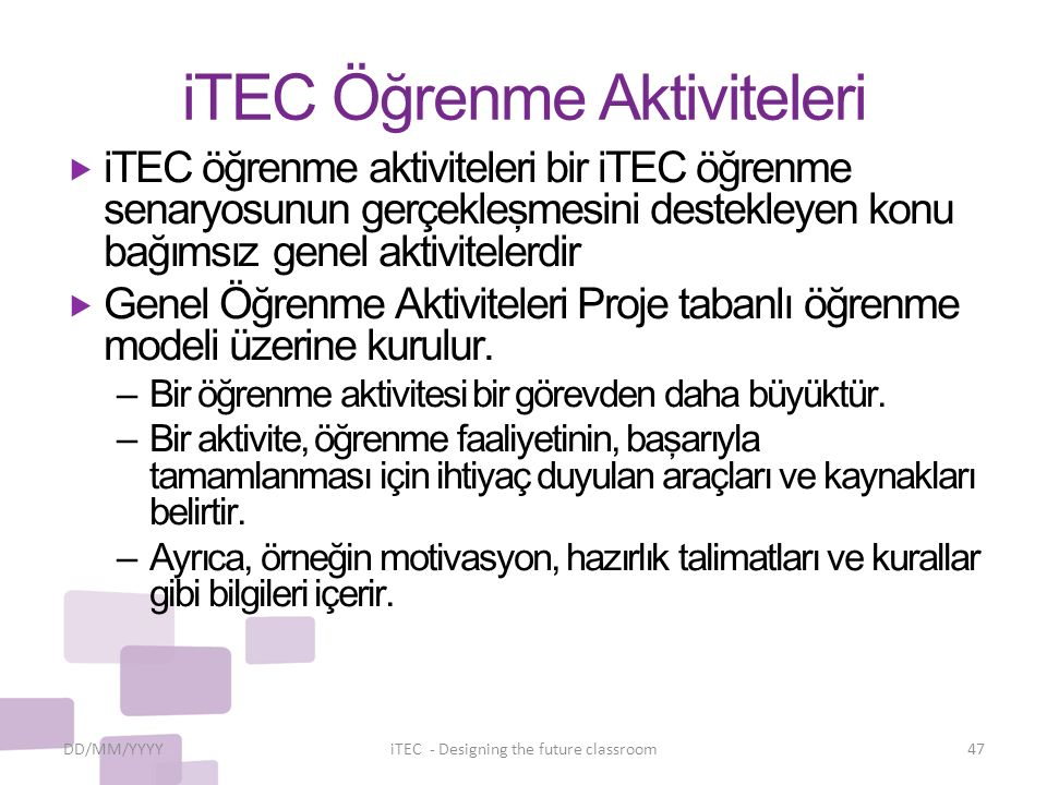 iTEC Öğrenme Aktiviteleri