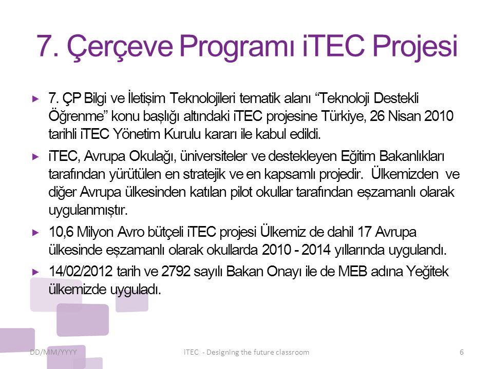 7. Çerçeve Programı iTEC Projesi