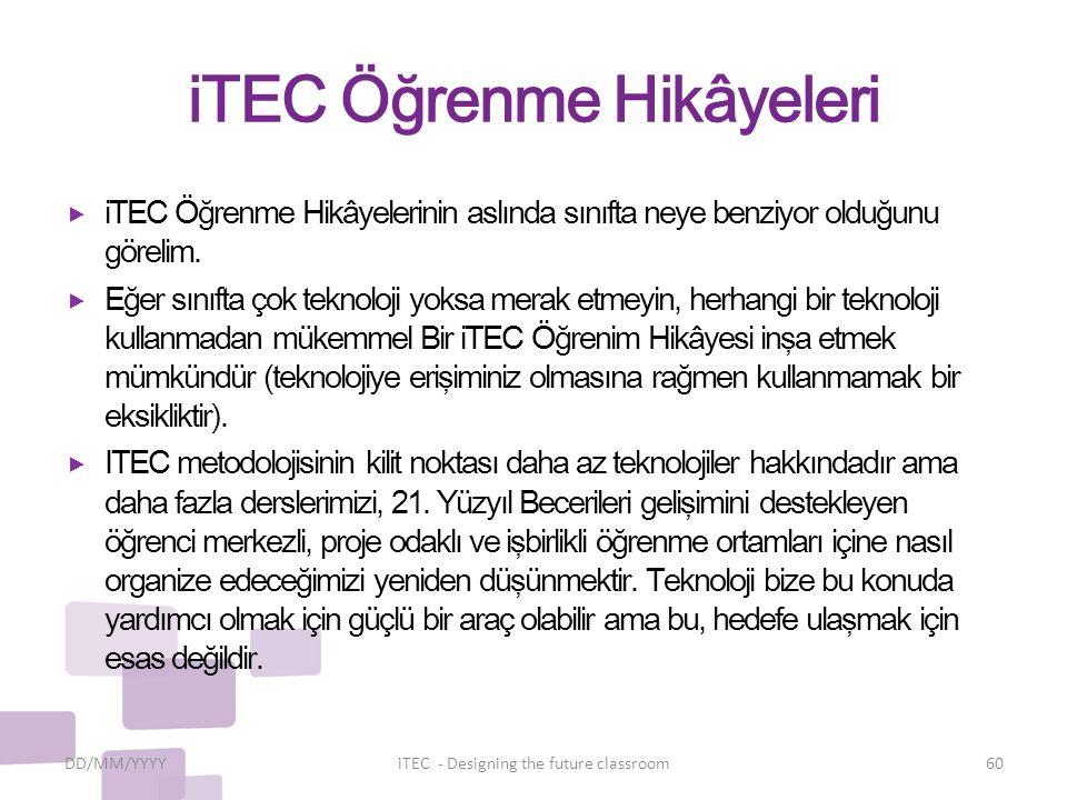 iTEC Öğrenme Hikâyeleri