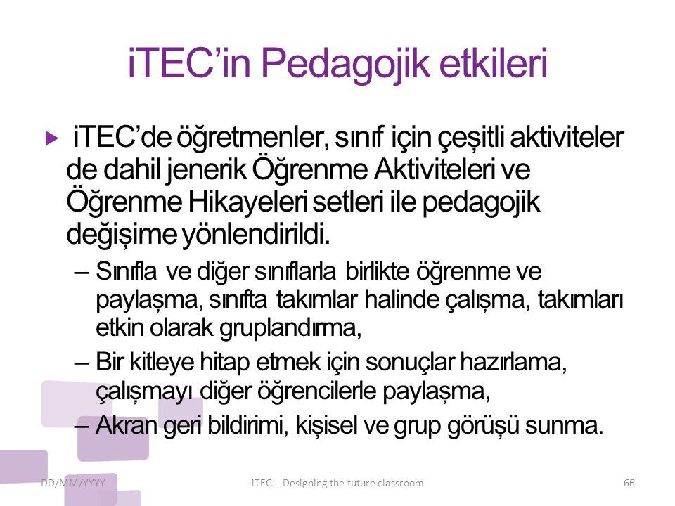 iTEC'in Pedagojik etkileri