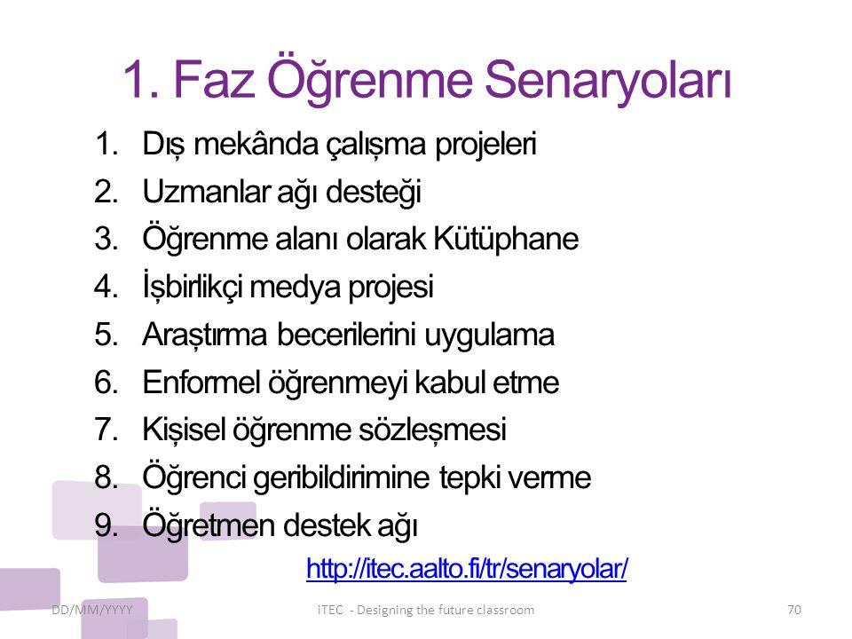 1. Faz Öğrenme Senaryoları