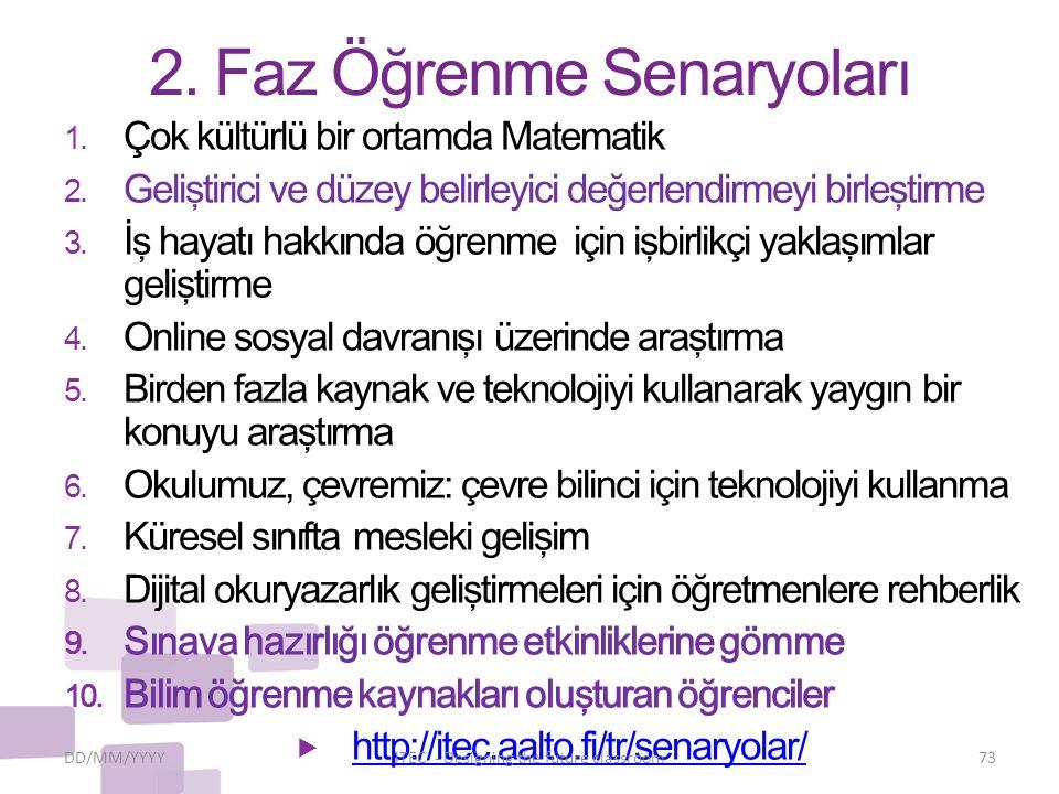 2. Faz Öğrenme Senaryoları