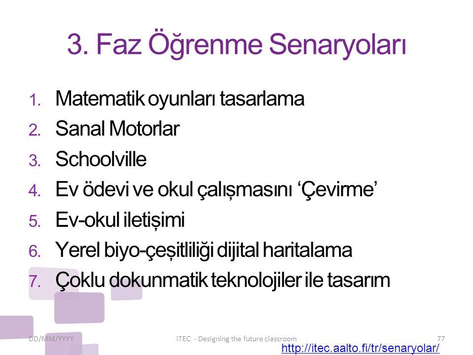 3. Faz Öğrenme Senaryoları