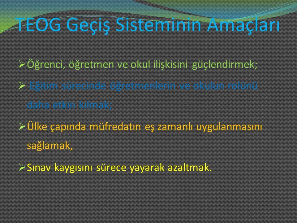 TEOG Geçiş Sisteminin Amaçları