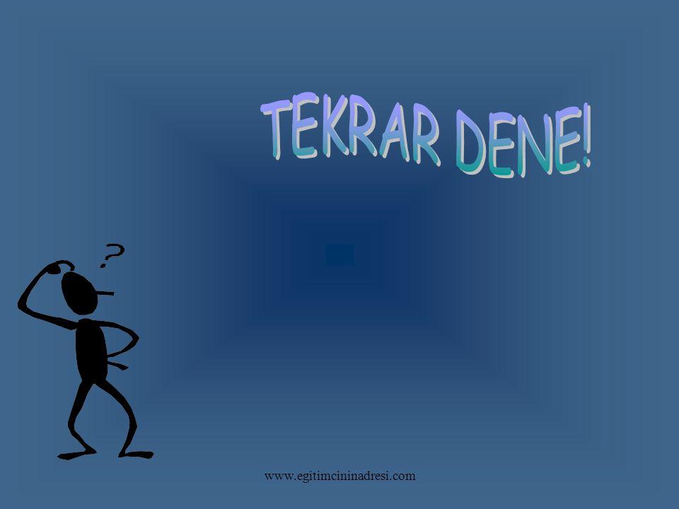 TEKRAR DENE! www.egitimcininadresi.com