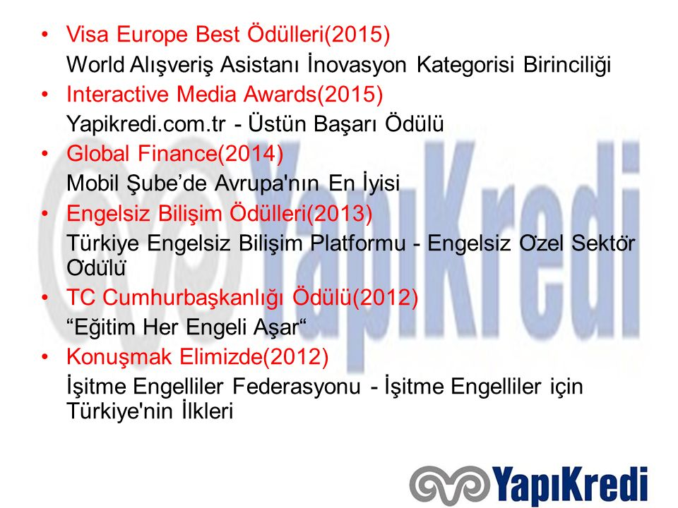 Visa Europe Best Ödülleri(2015)