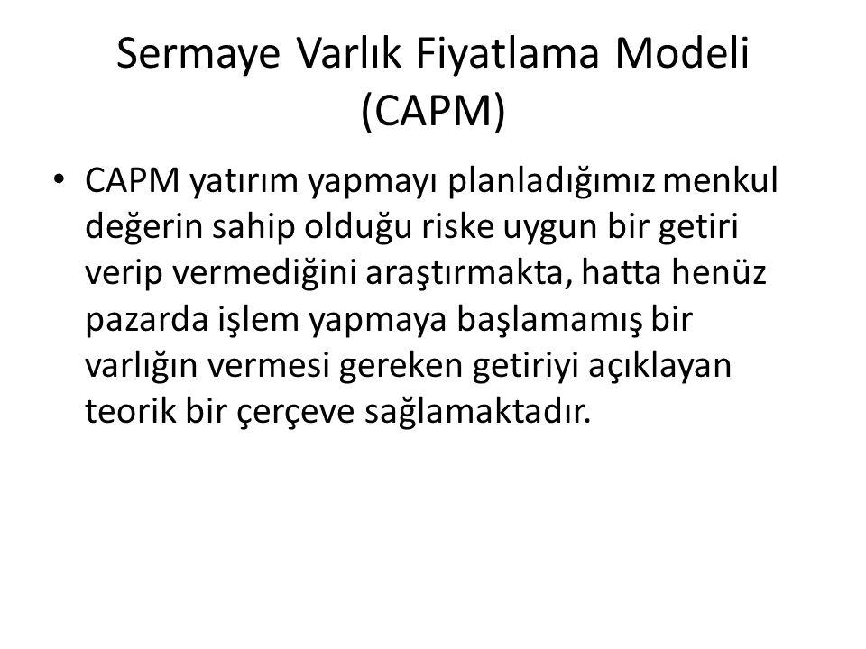 Sermaye Varlık Fiyatlama Modeli (CAPM)