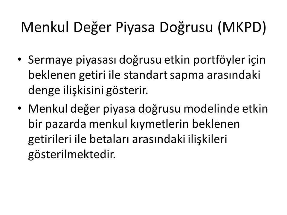 Menkul Değer Piyasa Doğrusu (MKPD)
