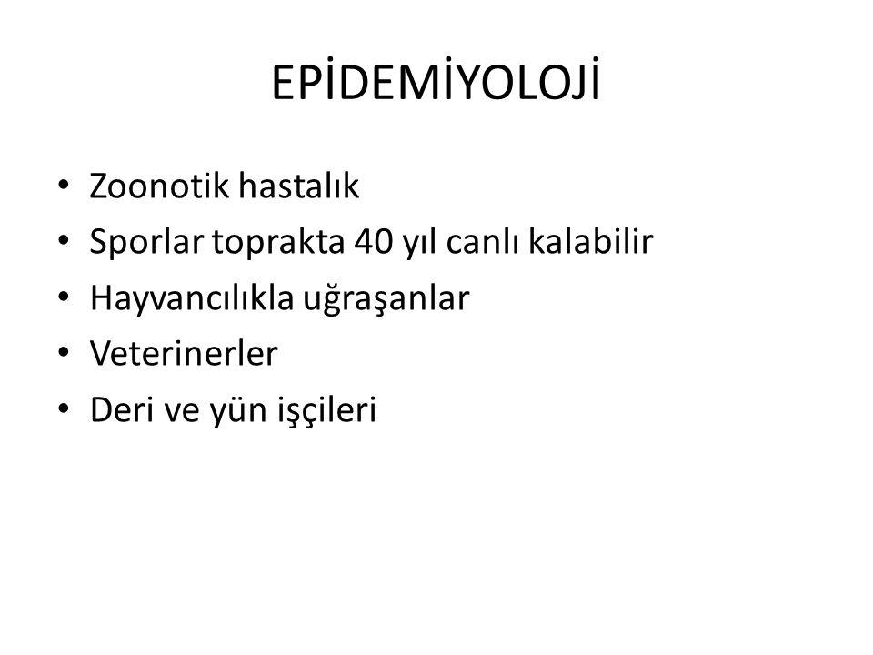 EPİDEMİYOLOJİ Zoonotik hastalık