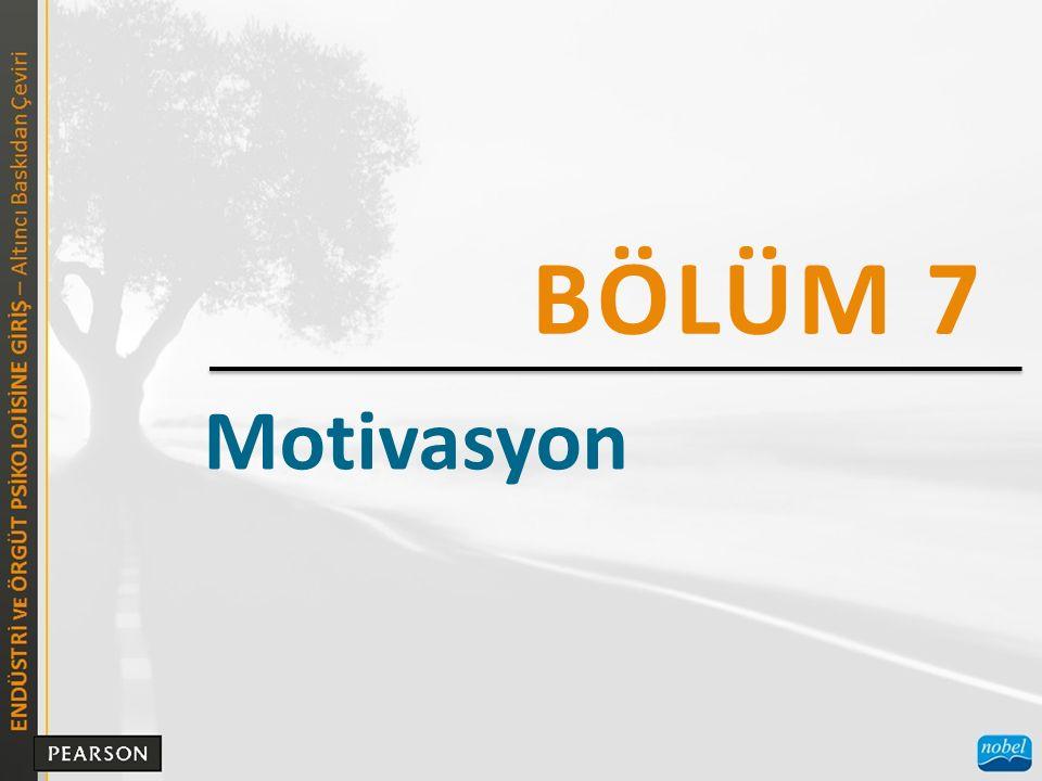 BÖLÜM 7 Motivasyon