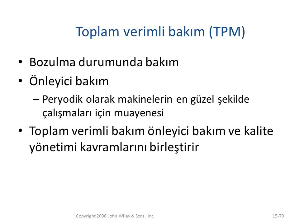 Toplam verimli bakım (TPM)