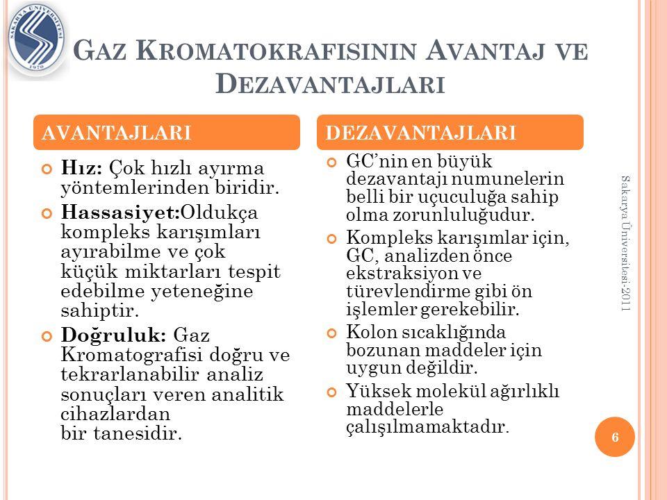 Gaz Kromatokrafisinin Avantaj ve Dezavantajlari