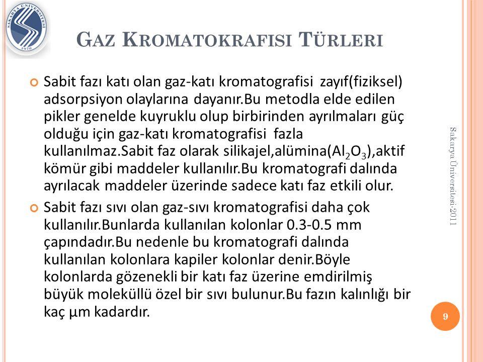 Gaz Kromatokrafisi Türleri