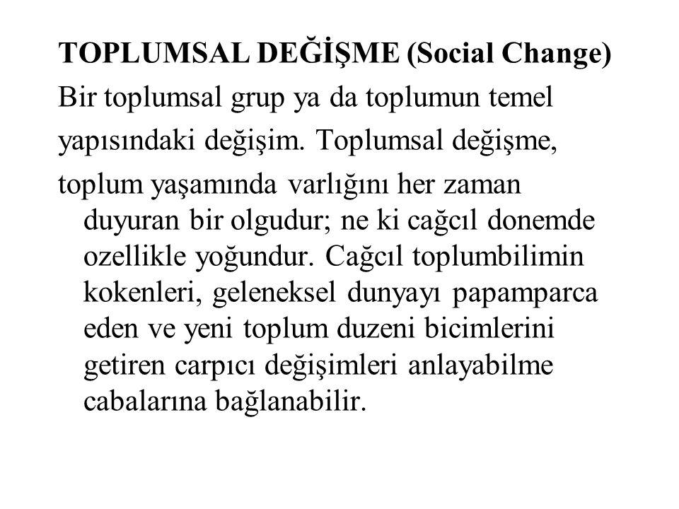 TOPLUMSAL DEĞİŞME (Social Change)