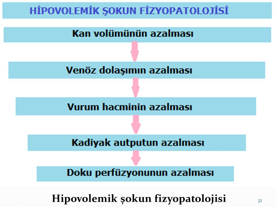 Hipovolemik şokun fizyopatolojisi