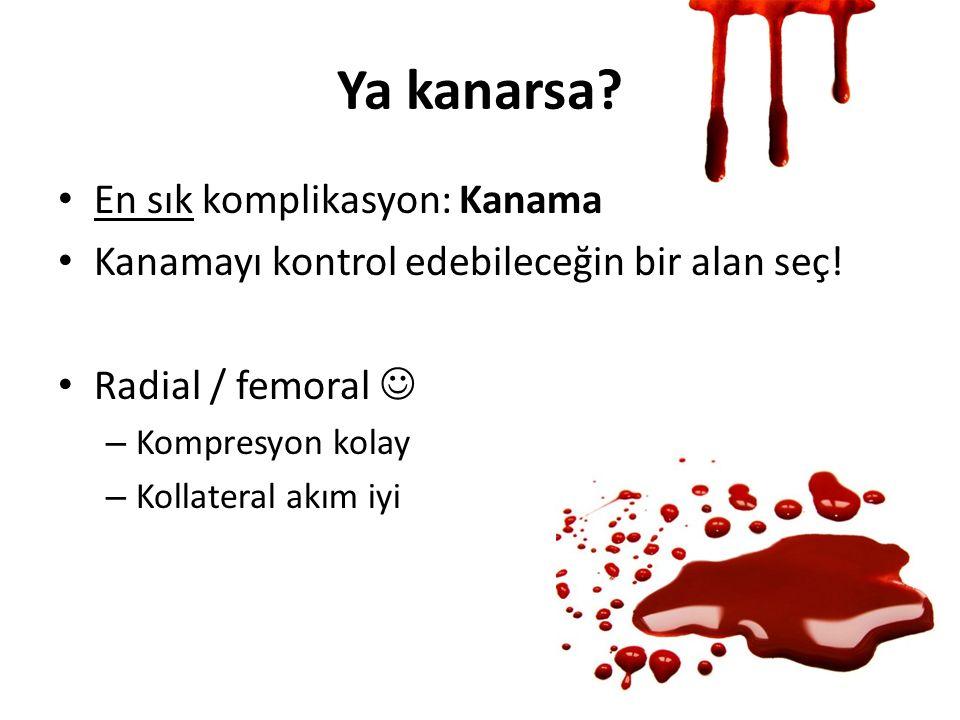 Ya kanarsa En sık komplikasyon: Kanama