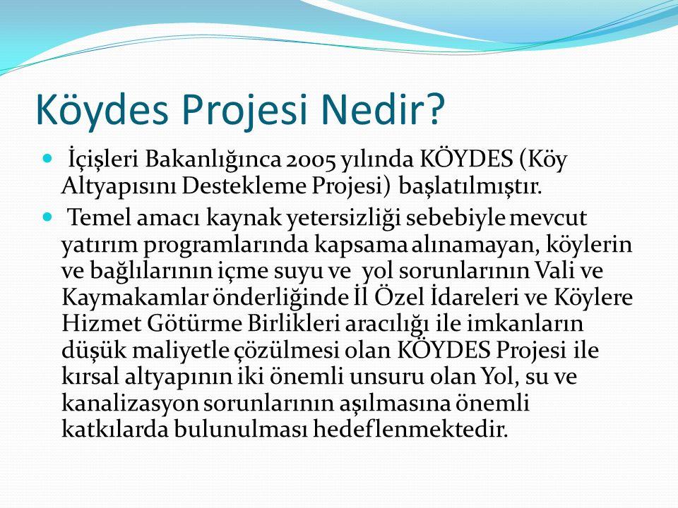 Köydes Projesi Nedir İçişleri Bakanlığınca 2005 yılında KÖYDES (Köy Altyapısını Destekleme Projesi) başlatılmıştır.