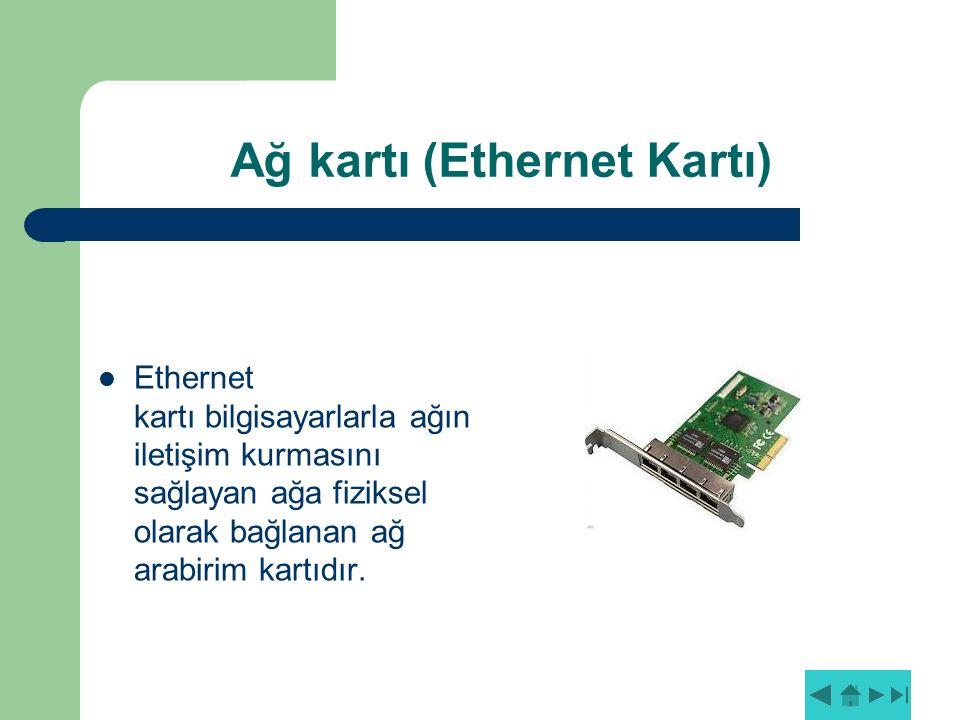 Ağ kartı (Ethernet Kartı)