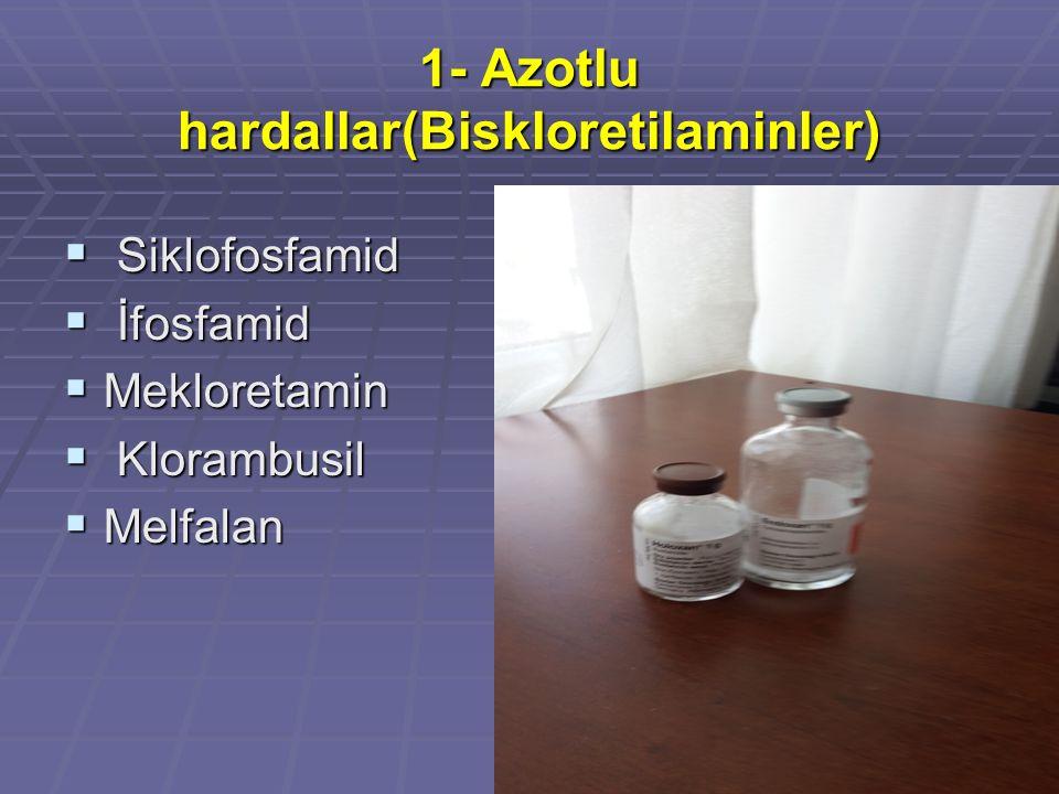 1- Azotlu hardallar(Biskloretilaminler)