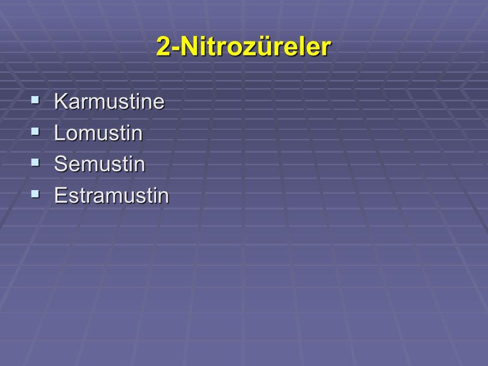 2-Nitrozüreler Karmustine Lomustin Semustin Estramustin