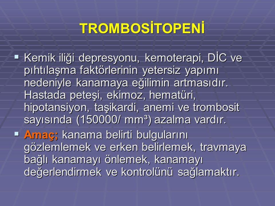 TROMBOSİTOPENİ