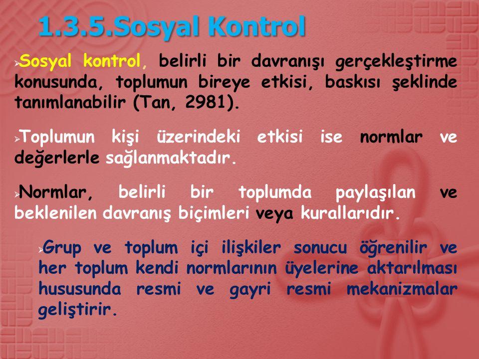 1.3.5.Sosyal Kontrol