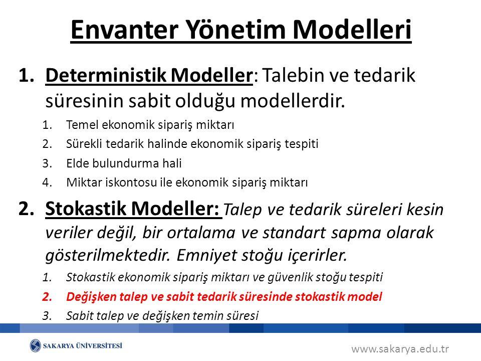 Envanter Yönetim Modelleri