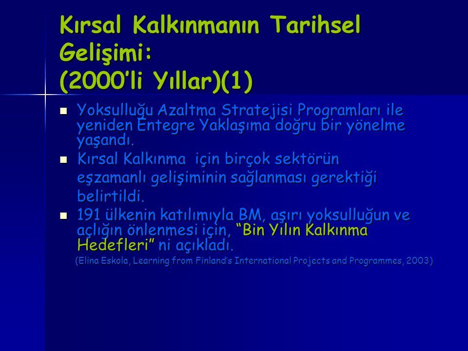 Kırsal Kalkınmanın Tarihsel Gelişimi: (2000'li Yıllar)(1)