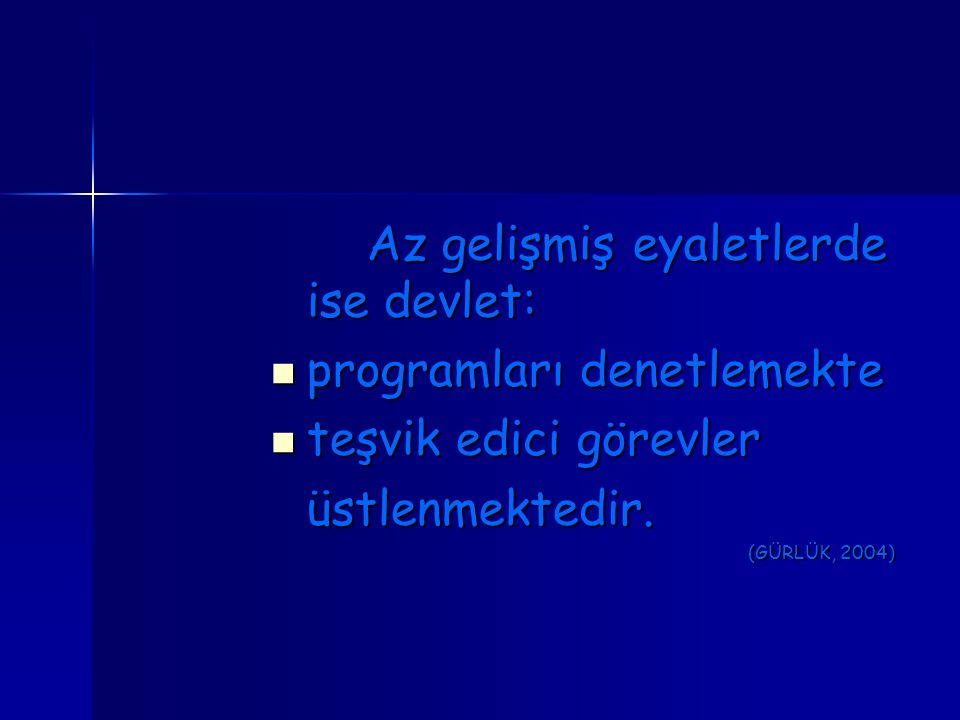 programları denetlemekte teşvik edici görevler üstlenmektedir.