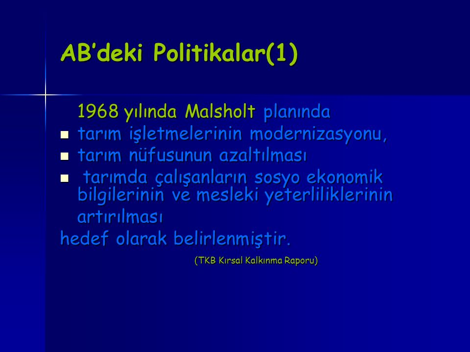 AB'deki Politikalar(1)