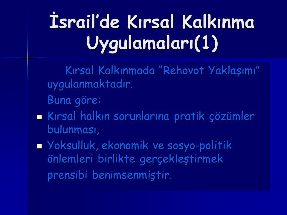 İsrail'de Kırsal Kalkınma Uygulamaları(1)