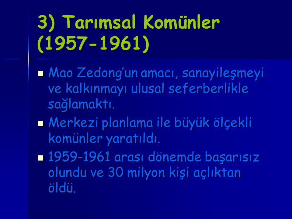 3) Tarımsal Komünler (1957-1961)