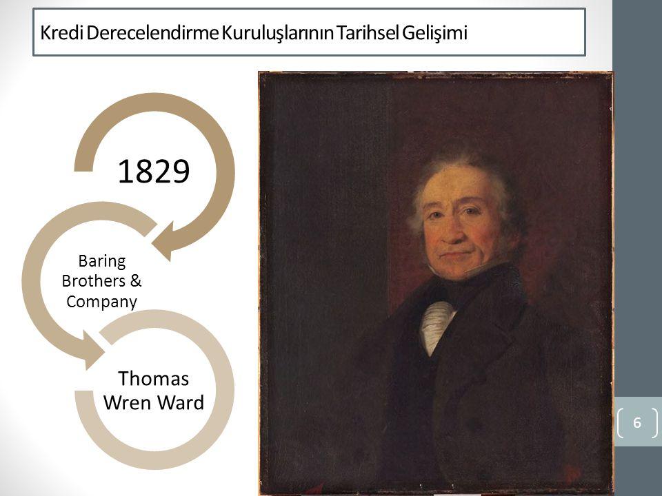 Kredi Derecelendirme Kuruluşlarının Tarihsel Gelişimi