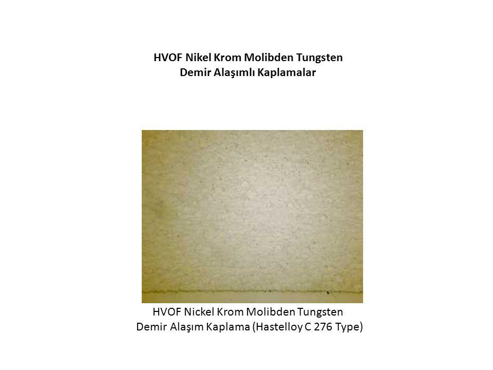 HVOF Nikel Krom Molibden Tungsten Demir Alaşımlı Kaplamalar