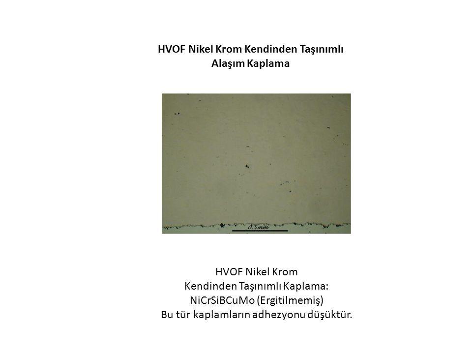 HVOF Nikel Krom Kendinden Taşınımlı Alaşım Kaplama
