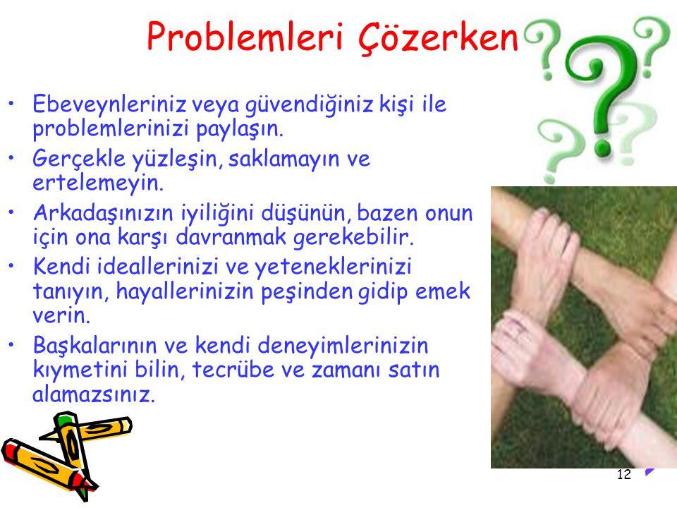 Problemleri Çözerken: