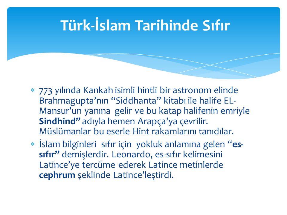 Türk-İslam Tarihinde Sıfır