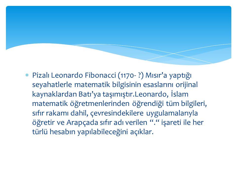Pizalı Leonardo Fibonacci (1170-