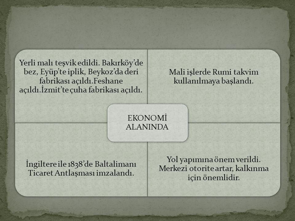Mali işlerde Rumi takvim kullanılmaya başlandı.