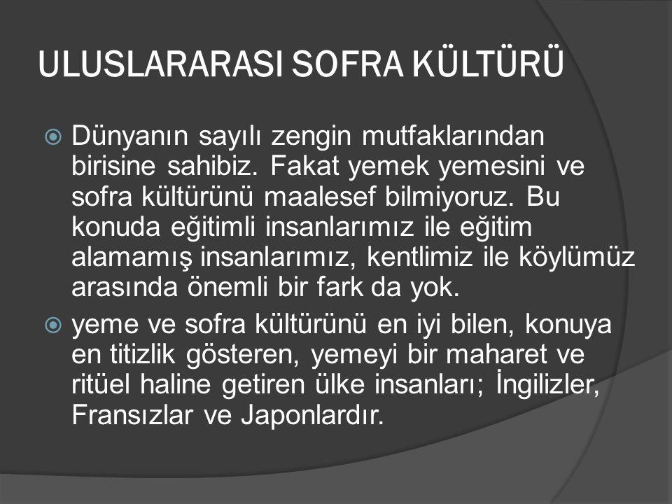 ULUSLARARASI SOFRA KÜLTÜRÜ