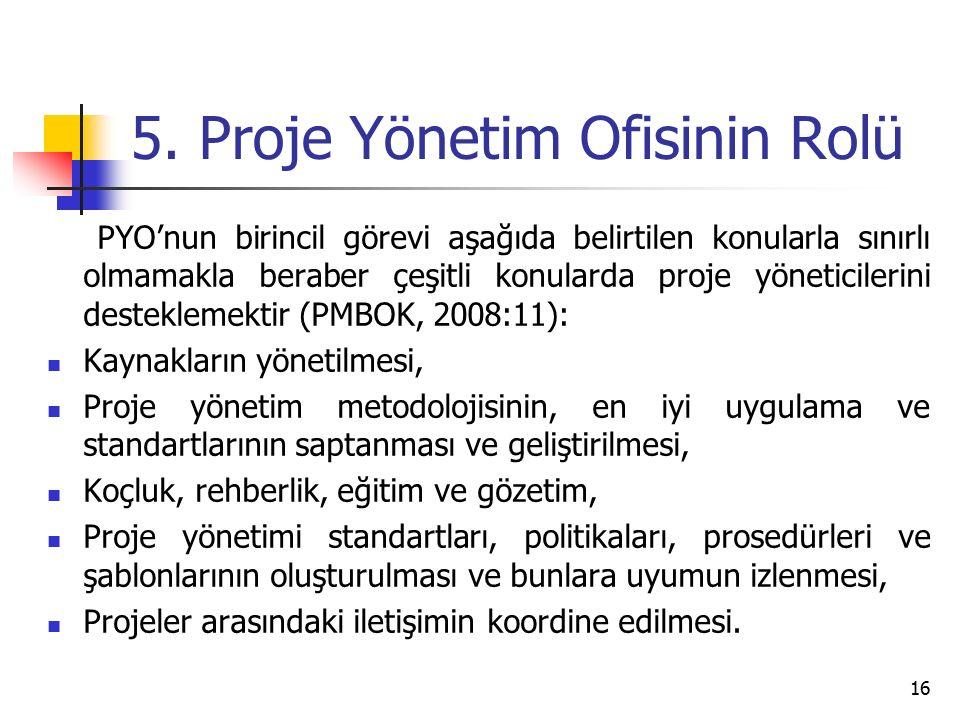 5. Proje Yönetim Ofisinin Rolü