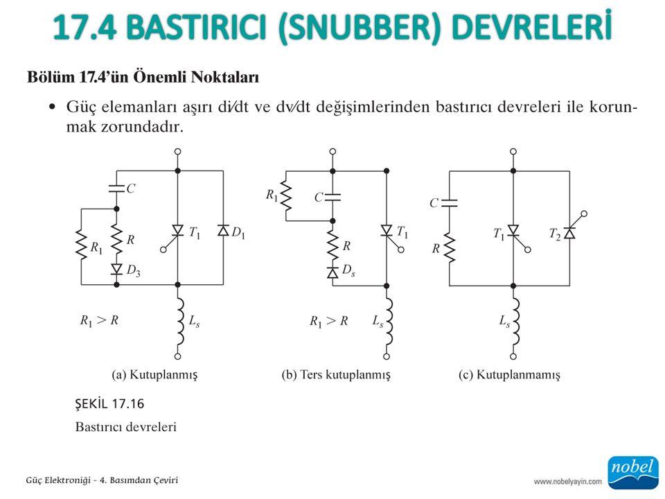 17.4 BASTIRICI (Snubber) DEVRELERİ